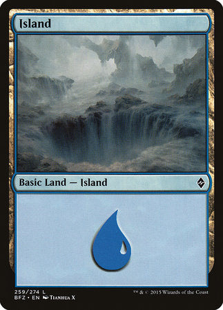 Island (259) [Battle for Zendikar] | Pro Gamers and Collectables