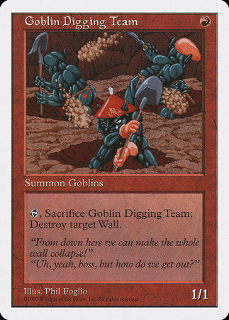 Goblin Digging Team [Fifth Edition] | Pro Gamers and Collectables