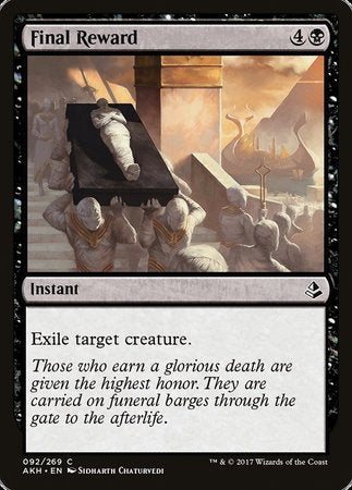 Final Reward [Amonkhet] | Pro Gamers and Collectables