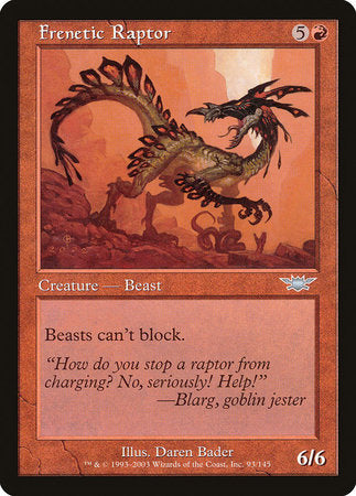 Frenetic Raptor [Legions] | Pro Gamers and Collectables