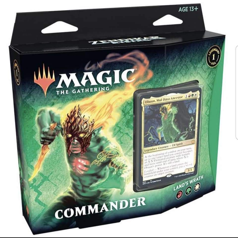 Zendikar Rising Commander Deck Land's Wrath | Pro Gamers and Collectables