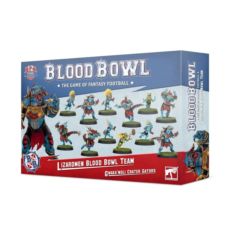 Blood Bowl Gwaka'Moli Crater Gators Lizardmen Team | Pro Gamers and Collectables