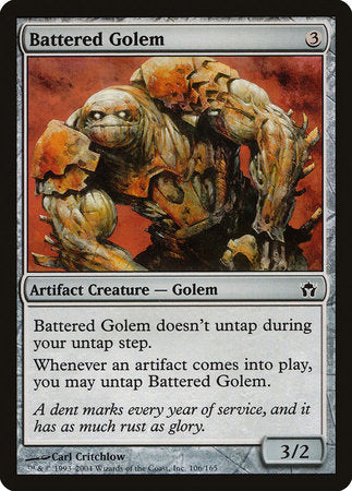 Battered Golem [Fifth Dawn] | Pro Gamers and Collectables