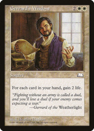 Gerrard's Wisdom [Weatherlight] | Pro Gamers and Collectables