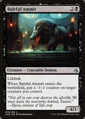 Baleful Ammit [Amonkhet] | Pro Gamers and Collectables