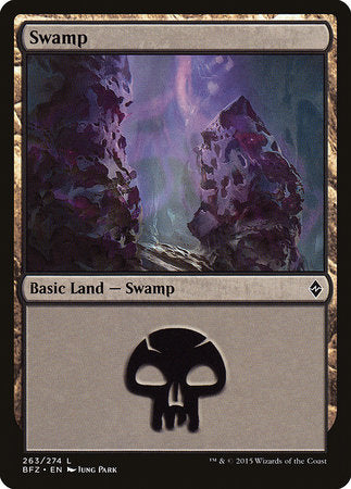 Swamp (263) [Battle for Zendikar] | Pro Gamers and Collectables