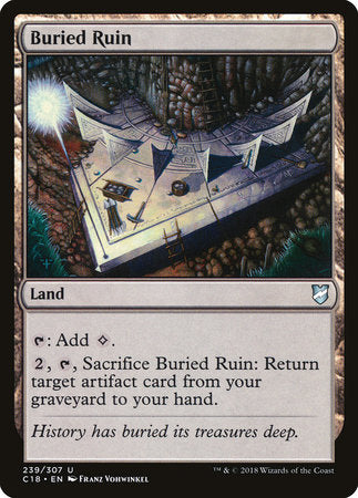 Buried Ruin [Commander 2018] | Pro Gamers and Collectables