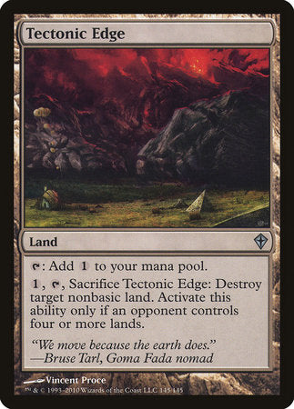 Tectonic Edge [Worldwake] | Pro Gamers and Collectables