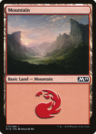Mountain (275) [Core Set 2019] | Pro Gamers and Collectables