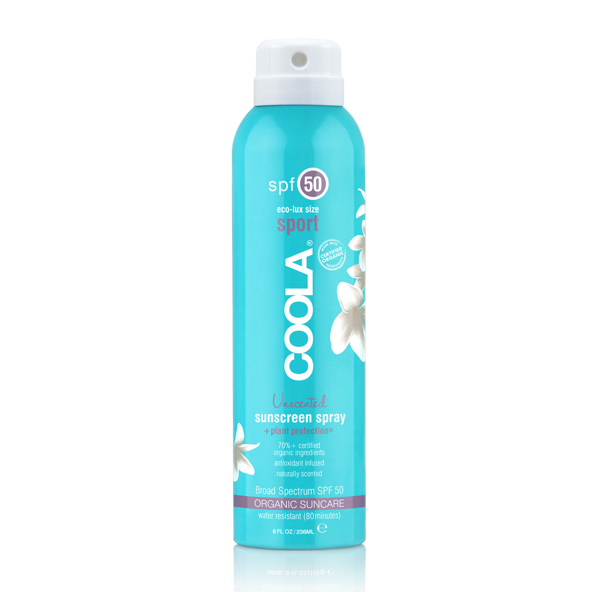 COOLA Sport SPF50 Unscented Sunscreen Spray