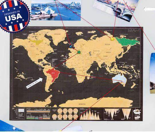Premium & Large Scratch-Off Travel Map