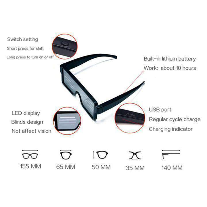 LED Light Glasses