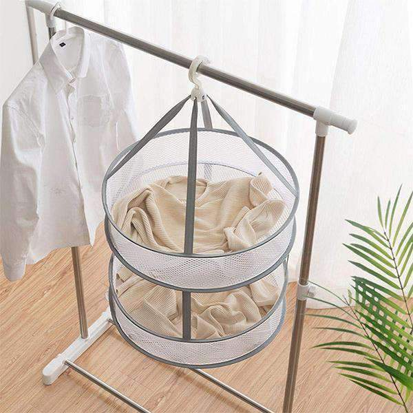 Windproof Foldable Hanging Cellular Net Clothes Basket