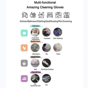 Gloves for cleaning the home