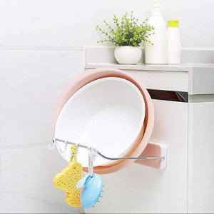 Collapsible Wall-mounted Washbasin Storage Rack