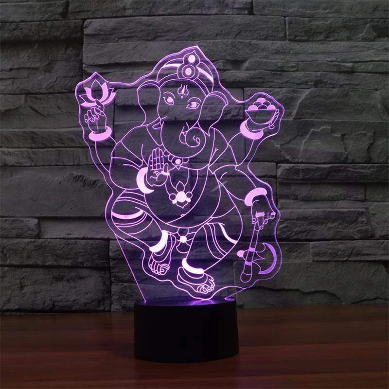 GANESHA DIVINE MULTI-COLOR 3D LAMP