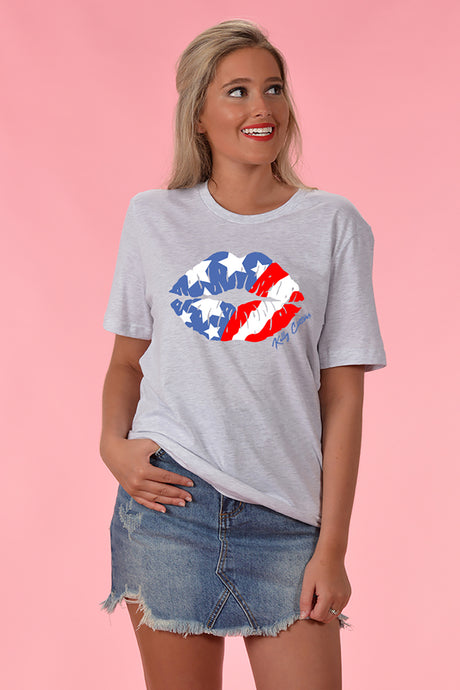 American Kiss Tee - Kelly Cottons