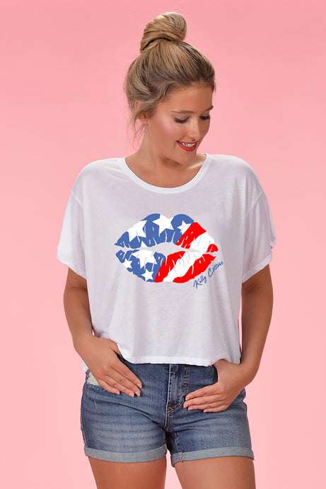 American Kiss Crop - Kelly Cottons