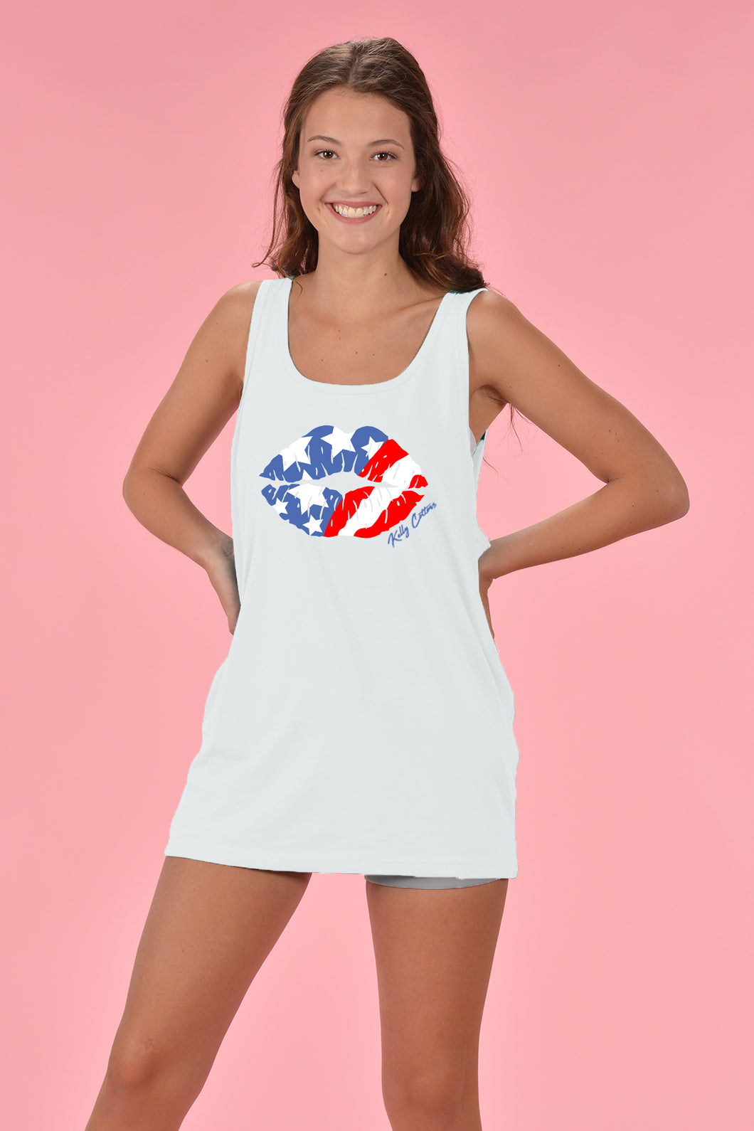 American Kiss Tank - Kelly Cottons