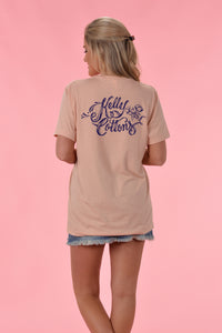 Navy Kelly Cottons Script - Kelly Cottons
