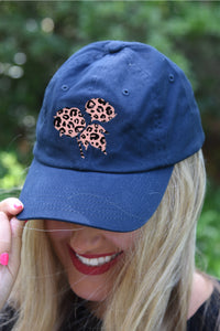 Blush Leopard Cotton Boll Hat - Kelly Cottons