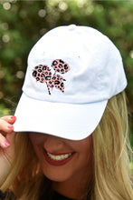 Load image into Gallery viewer, Blush Leopard Cotton Boll Hat - Kelly Cottons