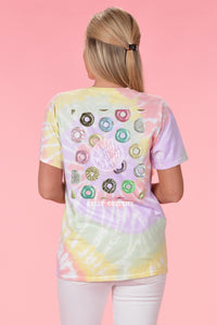 Donut Worry Be Happy Tie Dye - Kelly Cottons
