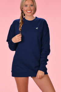 Embroidered Sweatshirt - Kelly Cottons