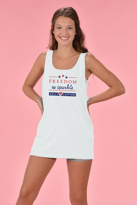 Freedom to Sparkle Tank - Kelly Cottons