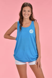 Gingham Cotton Boll Tank - Kelly Cottons