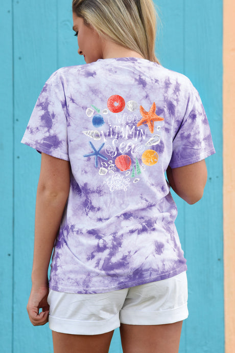 I Need Vitamin Sea - Tie Dye - Kelly Cottons