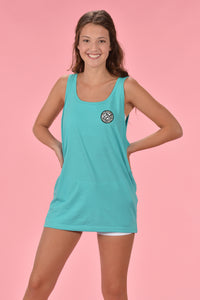 Leopard Cotton Boll Tank - Kelly Cottons