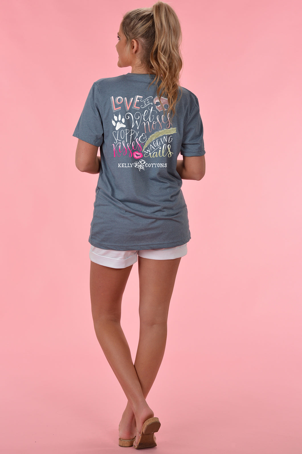 Love Is Wet Noses V-Neck - Kelly Cottons