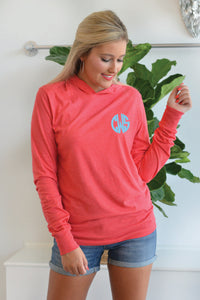 Monogrammed - Hooded Long Sleeve Shirt