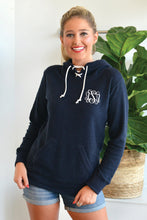 Load image into Gallery viewer, Monogrammed French Terry Scuba Hooded Pullover