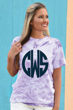 Load image into Gallery viewer, Monogrammed Tie Dye Tee