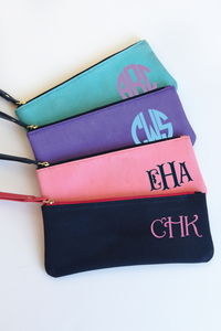 Monogrammed Kelly Cottons Face Mask Bag