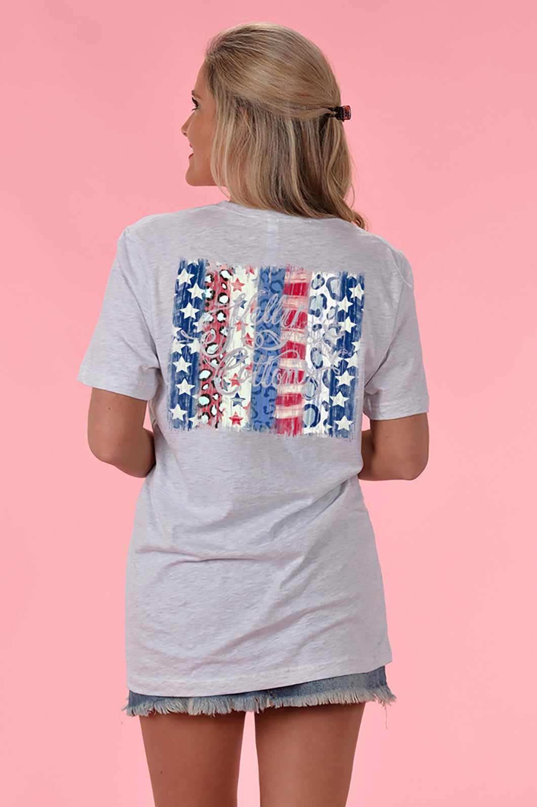 Patriotic Pattern Tee - Kelly Cottons