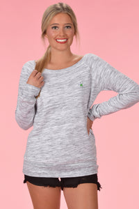Marbled Grey Sweatshirt - Kelly Cottons