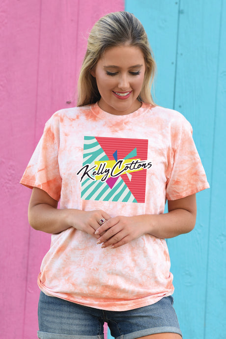 KC Retro Front - Tie Dye - Kelly Cottons