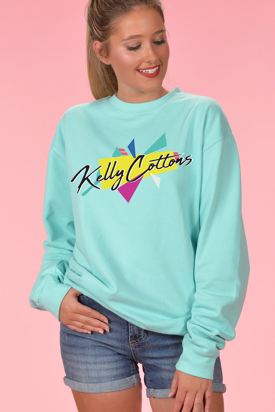 Retro Mint Pullover - Print - Kelly Cottons