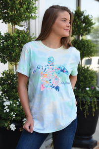 Tie Dye Watercolor Sea Turtles