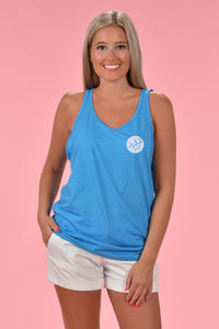 Seersucker Cotton Boll Tank - Kelly Cottons