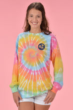 Load image into Gallery viewer, Long Sleeve Tie Dye - Navy Cotton Boll - Kelly Cottons