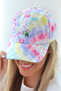 Tie Dye Cotton Boll Hat - Fuschia - Kelly Cottons
