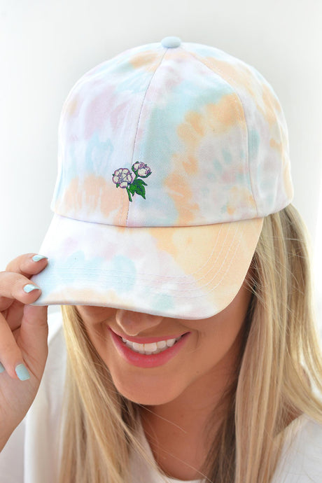 Tie Dye Cotton Boll Hat - Blue - Kelly Cottons