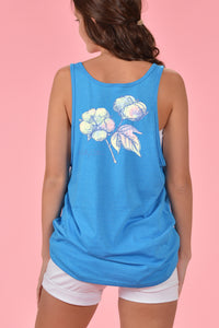 Tie Dye Cotton Boll Tank - Kelly Cottons