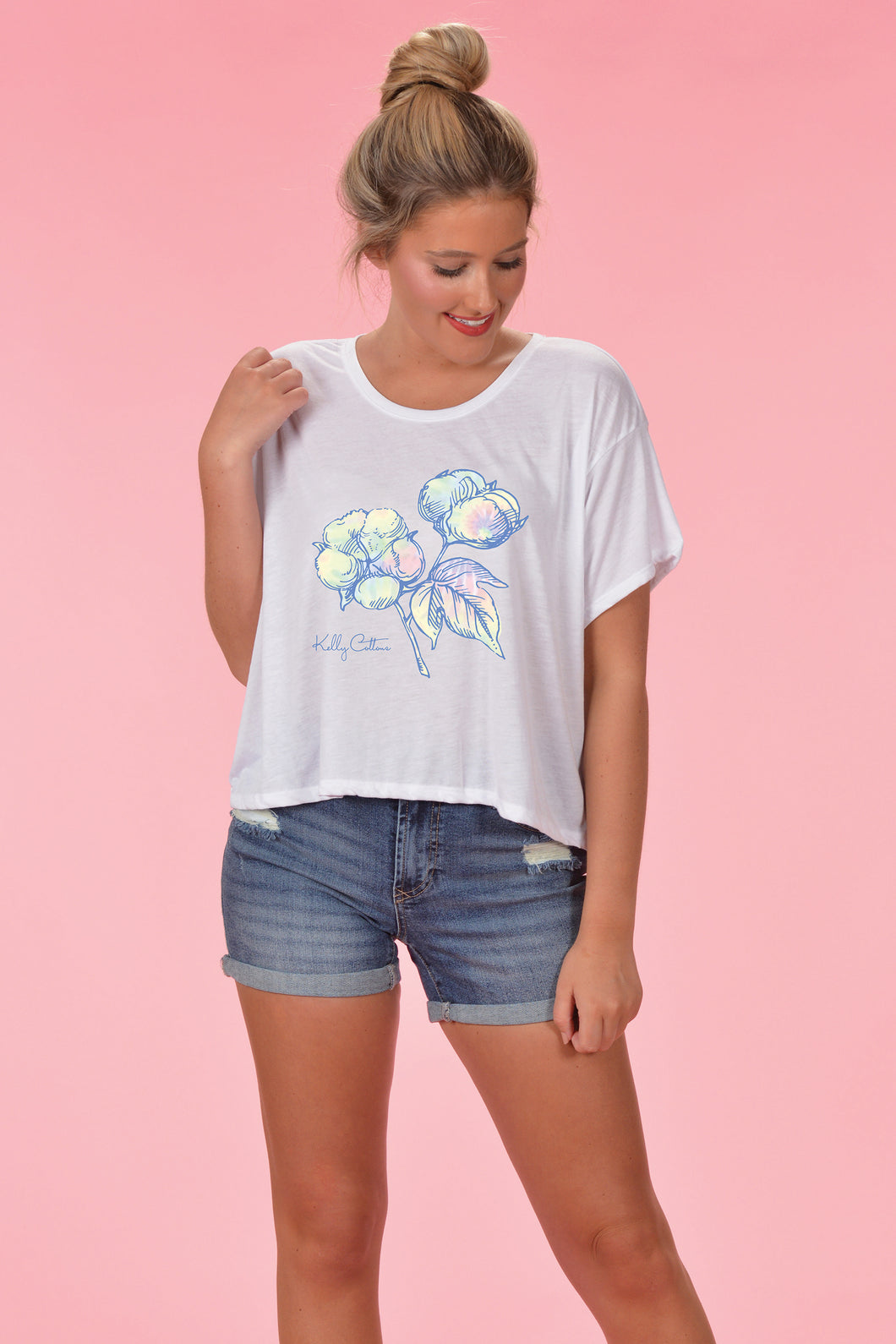 Tie Dye Cotton Boll Crop - Kelly Cottons