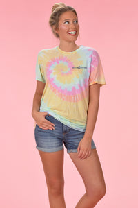 KC logo Tie Dye - Front and Back - Kelly Cottons