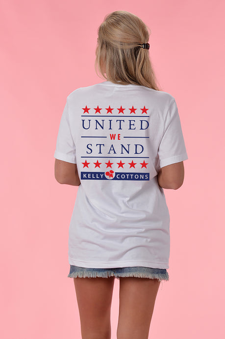 United We Stand V-Neck - Kelly Cottons